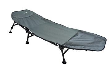Angelspezi Liege 6-Bein Eco Karpfenliege Stahl Bedchair Angelliege