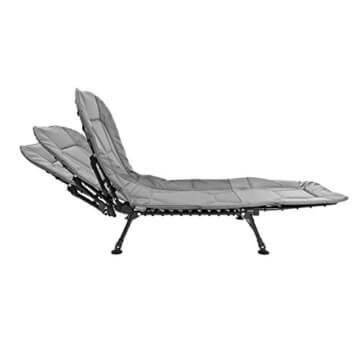 bremermann® Campingliege, Angelliege, Feldbett mit höhenverstellbarer Rückenlehne