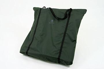 CampFeuer - Angelliege, Metall Karpfenliege für Angler, bequeme 6-Bein Liege mit Tragetasche