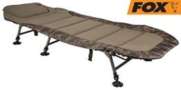 Fox Royale Camo Bedchair XL Karpfenliege, Angelliege zum Karpfenangeln - 1