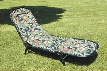 LINEAEFFE CAMO Karpfenliege Stahl Bedchair Angelliege -