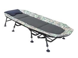 MK-Angelsport Angelliege 8-Bein FlatSize Nature Pro Karpfenliege Bedchair Liege